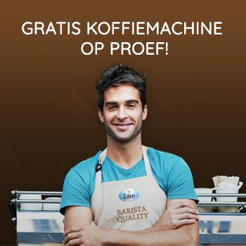 Probeer nu onze koffiemachines GRATIS uit!