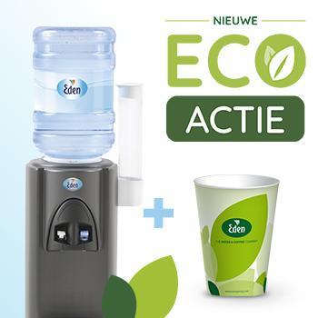 Eden Eco Package: watercooler v.a. € 149,- + 100 GRATIS BIO bekers