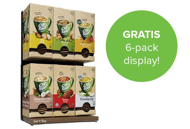 Gratis Cup-a-Soup 6-pack display